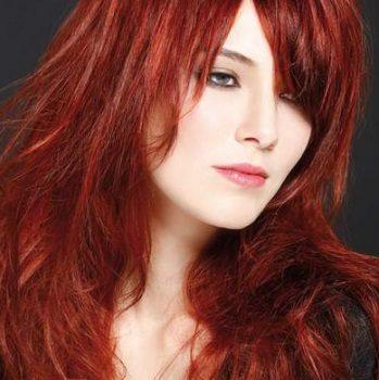 Окраска волос в салоне красоты На Речной в Красногорске. Цвет рыжий интенсивный