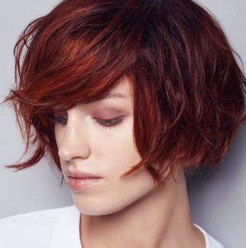 Окраска волос в салоне красоты На Речной в Красногорске. Цвет темная медь