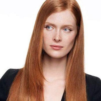Окраска волос в салоне красоты На Речной в Красногорске. Цвет рыжий пепси