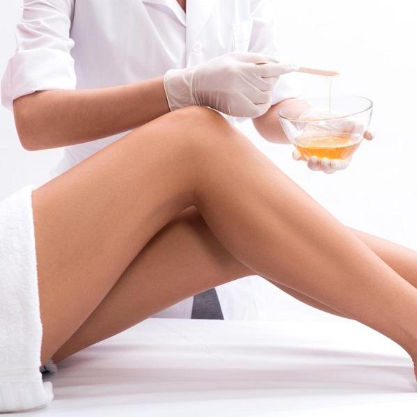 8 Подготовка к сахарной эпиляции шугарингу области голеней