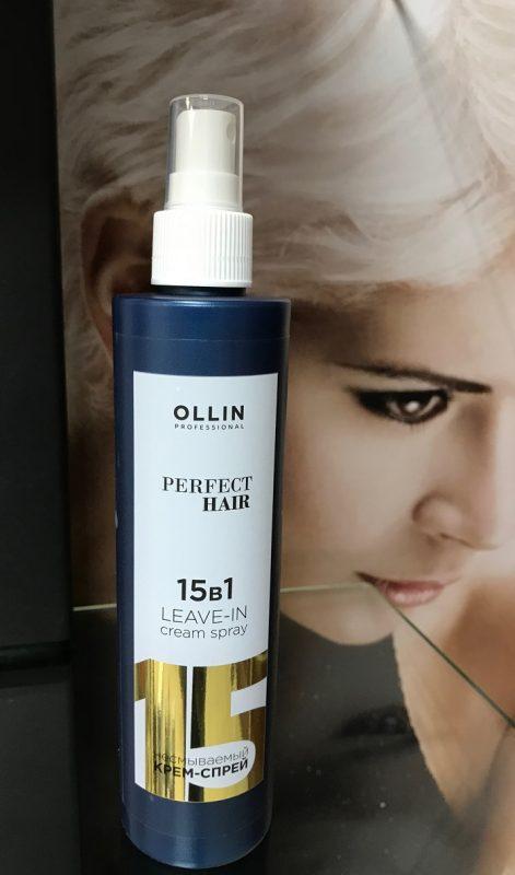 Несмываемый крем спрей для волос OLLIN