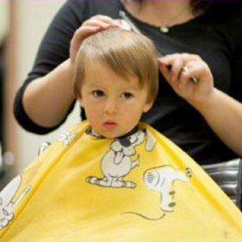 35 Стрижка для маленьких детей до 3 лет, парикмахерская На Речной, Красногорск