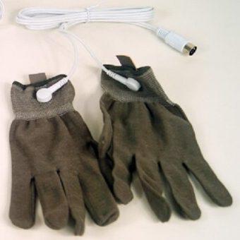6 Электроды в виде перчаток для аппарата для микротоковой терапии в косметологии.