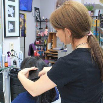 5.1 Стрижка, укладка и окрашивание волос в салоне парикмахерской На Речной в Красногорске