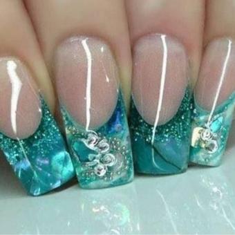 4 Аквариумный дизайн ногтей в салоне красоты На Речной в Красногорске