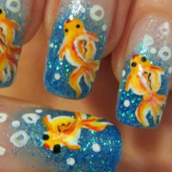 5 Аквариумный дизайн ногтей в салоне красоты На Речной в Красногорске