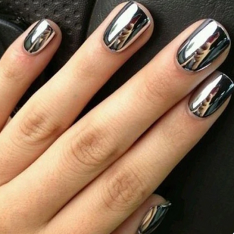 4.1 Дизайн ногтей, зеркальная втирка, салон красоты На Речной в Красногорске