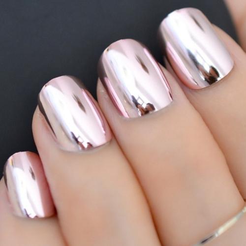 5.1 дизайн ногтей, зеркальная втирка