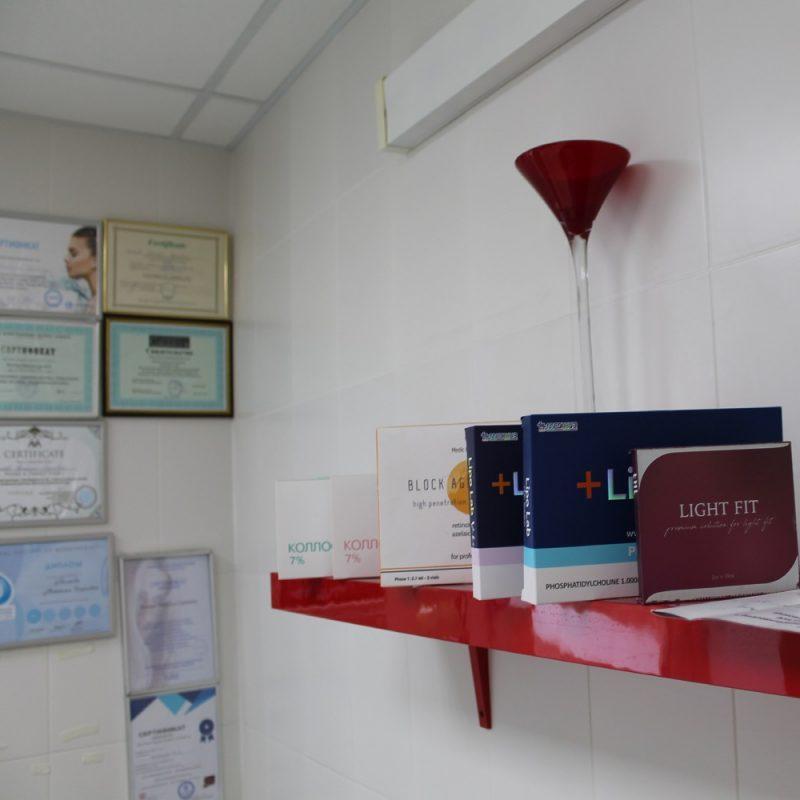 Препараты для инъекций в кабинете косметологии, салон красоты На Речной в Красногорске
