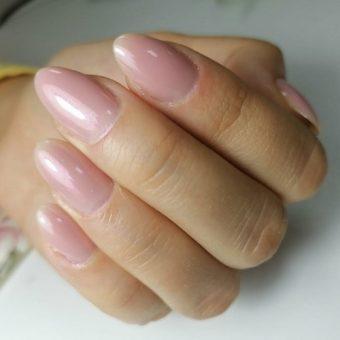 11- C Наращивание ногтей на форму, покрытие гелем в салоне красоты На Речной, Красногорск